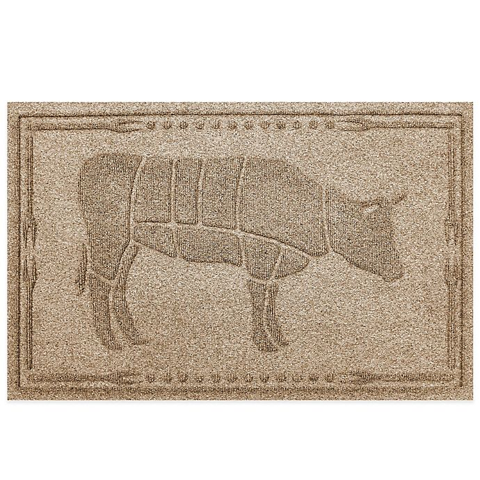 Alternate image 1 for Weather Guard™ 23-Inch x 35-Inch Cow BBQ Mat in Beige