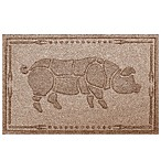 Weather Guard™ 23-Inch x 35-Inch Hog BBQ Mat in Brown