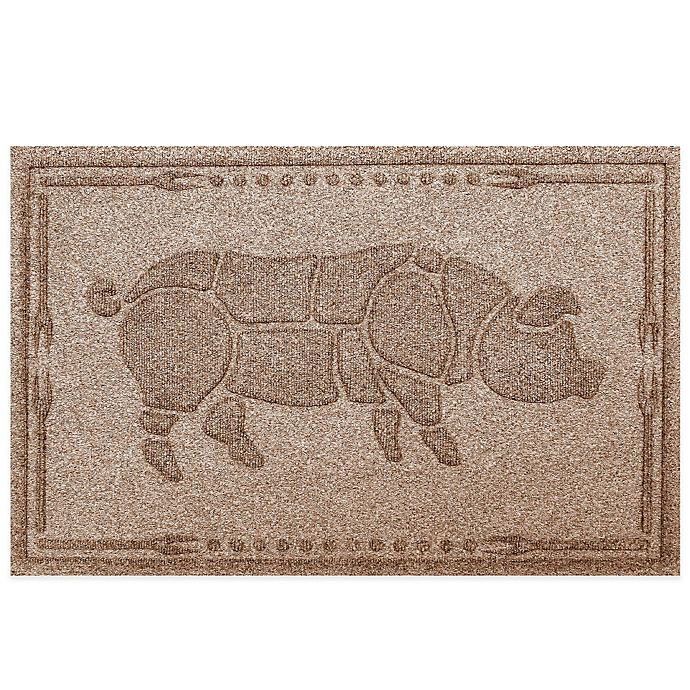 Alternate image 1 for Weather Guard™ 23-Inch x 35-Inch Hog BBQ Mat in Brown