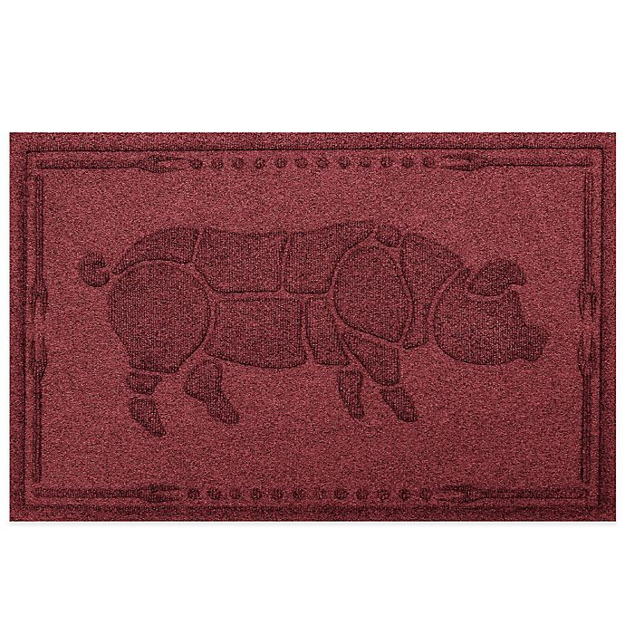 Alternate image 1 for Weather Guard™ 23-Inch x 35-Inch Hog BBQ Mat in Dark Red