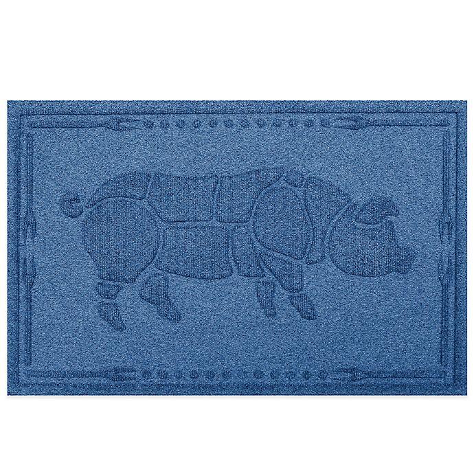 Alternate image 1 for Weather Guard™ 23-Inch x 35-Inch Hog BBQ Mat in Medium Blue