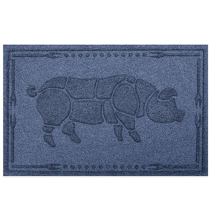 Alternate image 1 for Weather Guard™ 23-Inch x 35-Inch Hog BBQ Mat in Navy