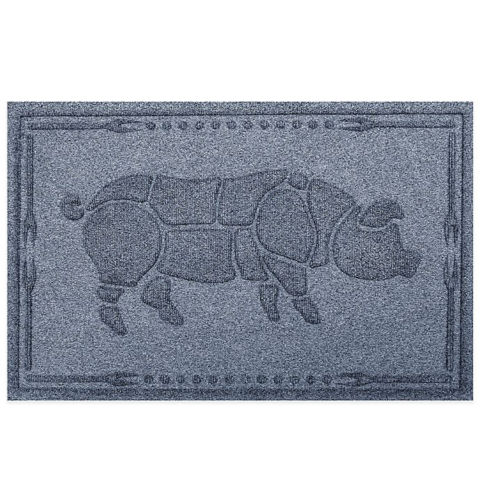 Alternate image 1 for Weather Guard™ 23-Inch x 35-Inch Hog BBQ Mat in Blue