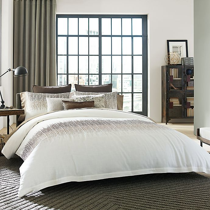 Alternate image 1 for Kenneth Cole Reaction Home Etched Duvet Cover in Ivory