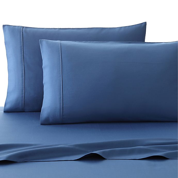 Alternate image 1 for Fiesta® 300-Thread-Count Solid Full Sheet Set in Lapis