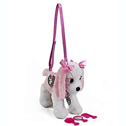 Poochie and Co.® Plush King Charles Heart Applique Purse in Pink