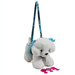 Poochie and Co.® Plush Bichon Purse in White/Pink