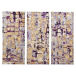 Madison Park Glided Violet Canvas Art (Set of 3)