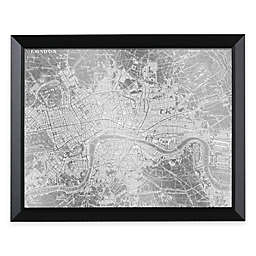 HeadWest London Map Framed Mirror