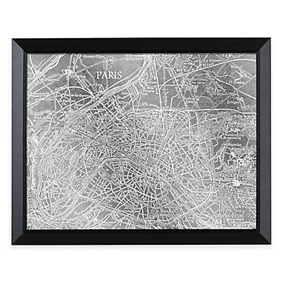 HeadWest Paris Map Framed Mirror