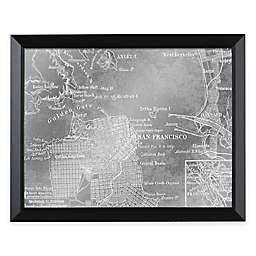 HeadWest San Francisco Map Framed Mirror