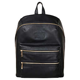 Honest City Backpack Diaper Bag in Black