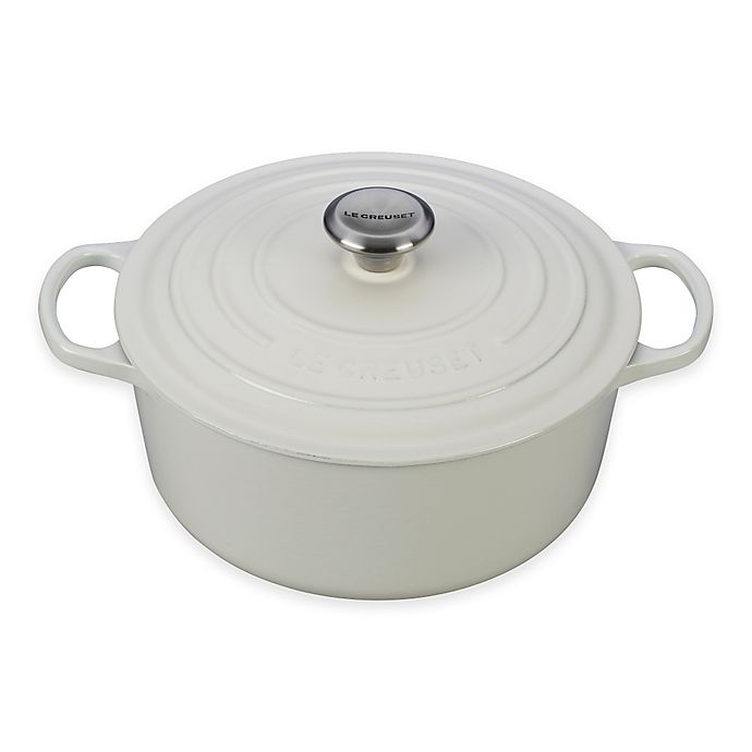 Alternate image 1 for Le Creuset® Signature 5.5 qt. Round Dutch Oven in White