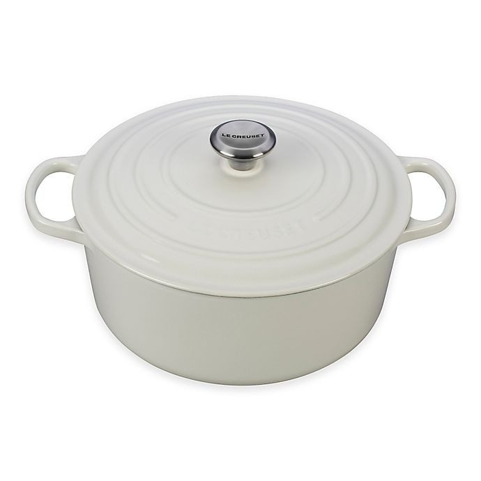 Alternate image 1 for Le Creuset Signature 7.25  qt. Round Dutch Oven in White
