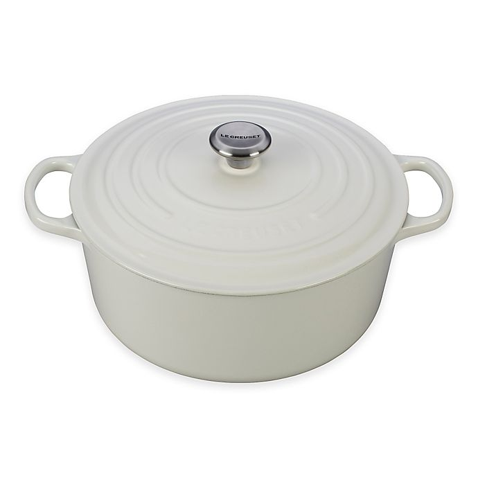 Alternate image 1 for Le Creuset® Signature 9 qt. Round Dutch Oven in White