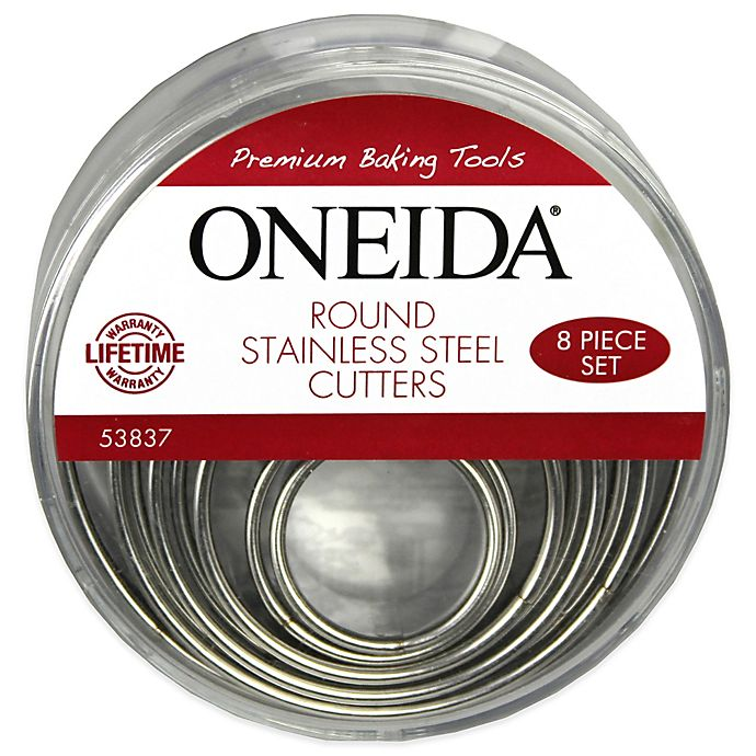 Alternate image 1 for Oneida® Stainless Steel Round Cutters (Set of 8)