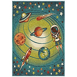 Aria Rugs Kids Court Galaxy Rug in Blue