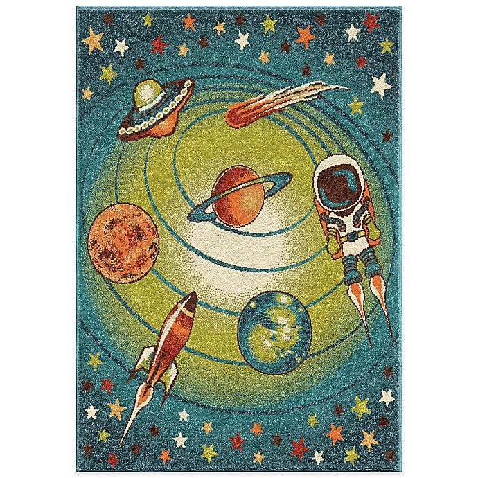 Alternate image 1 for Aria Rugs Kids Court Galaxy Rug in Blue