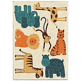 Aria Rugs Kids Court Safari Rug in Beige