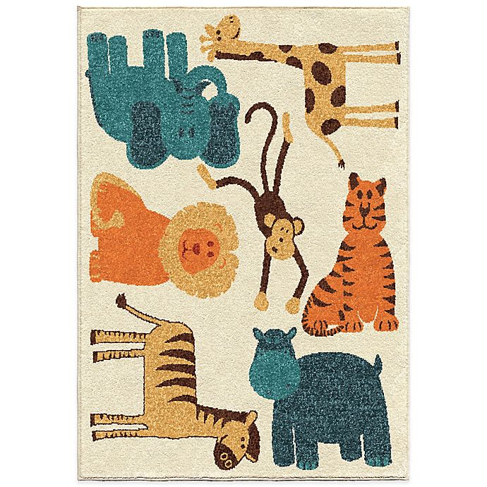 Alternate image 1 for Aria Rugs Kids Court Safari Rug in Beige