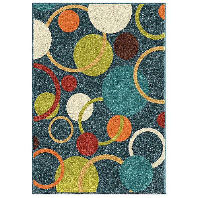 Alternate image 1 for Aria Rugs Kids Court 5-Foot 3-Inch x 7-Foot 6-Inch Gumball Admiral Area Rug in Blue
