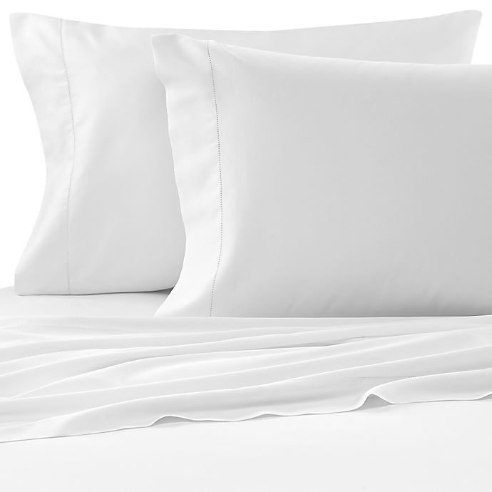 Alternate image 1 for Bellino™ Raso Cotton Queen Fitted Sheet in White