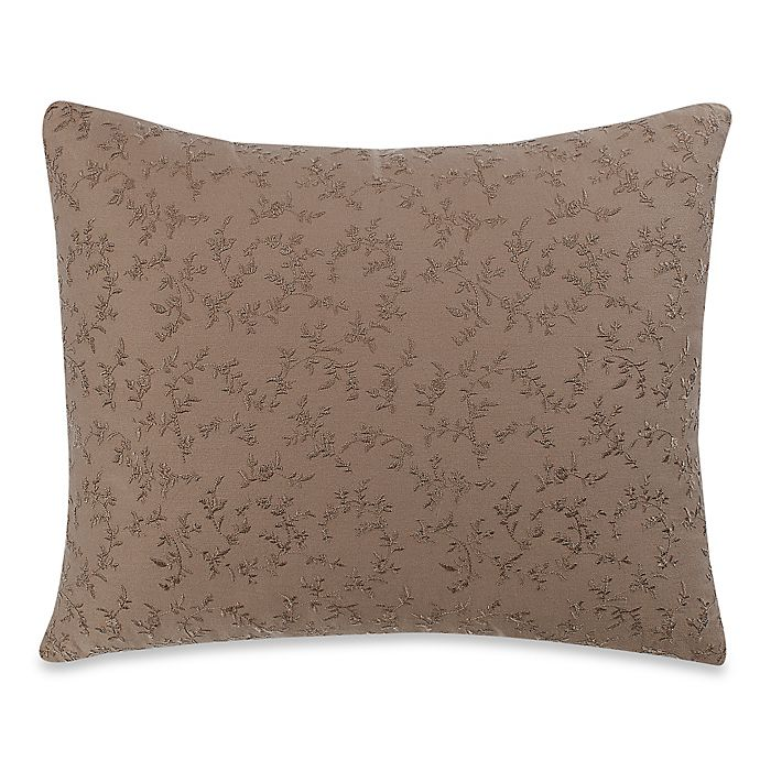 Alternate image 1 for Wamsutta® Vintage Washed Embroidered Oblong Throw Pillow in Linen
