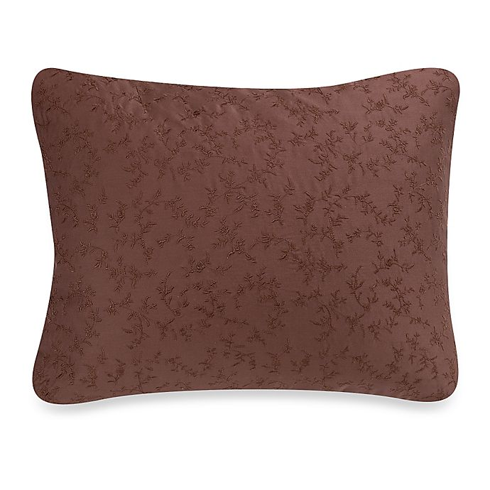 Alternate image 1 for Wamsutta® Vintage Washed Embroidered Oblong Throw Pillow in Raisin