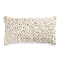 Wamsutta® Vintage Washed Linen Macramé Oblong Throw Pillow