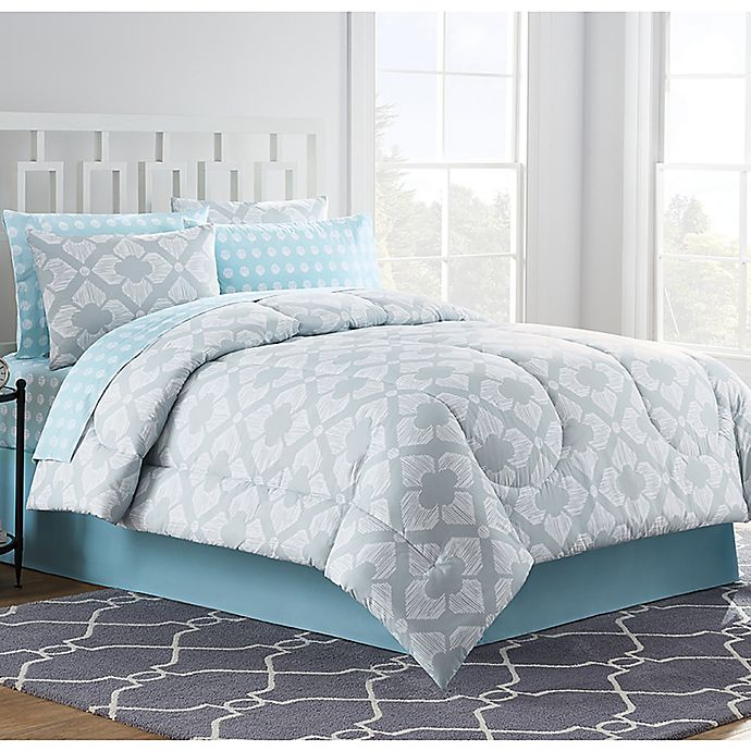 Chandra Comforter Set in Light Grey | Bed Bath & Beyond