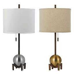 AF Lighting Gravity Table Lamp with Poly-Linen Hardback Shade