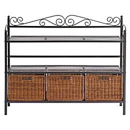 Southern Enterprises Petaluma 3-Drawer Baker's Rack