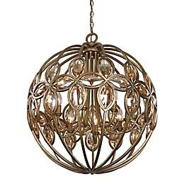 Uttermost Ambre 8-Light Spherical Chandelier in Gold