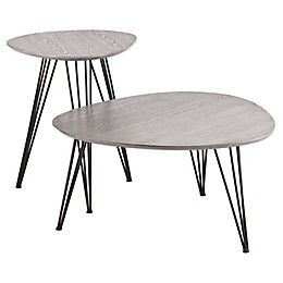 Holly& Martin® Bannock 2-Piece Table Set in Matte Grey