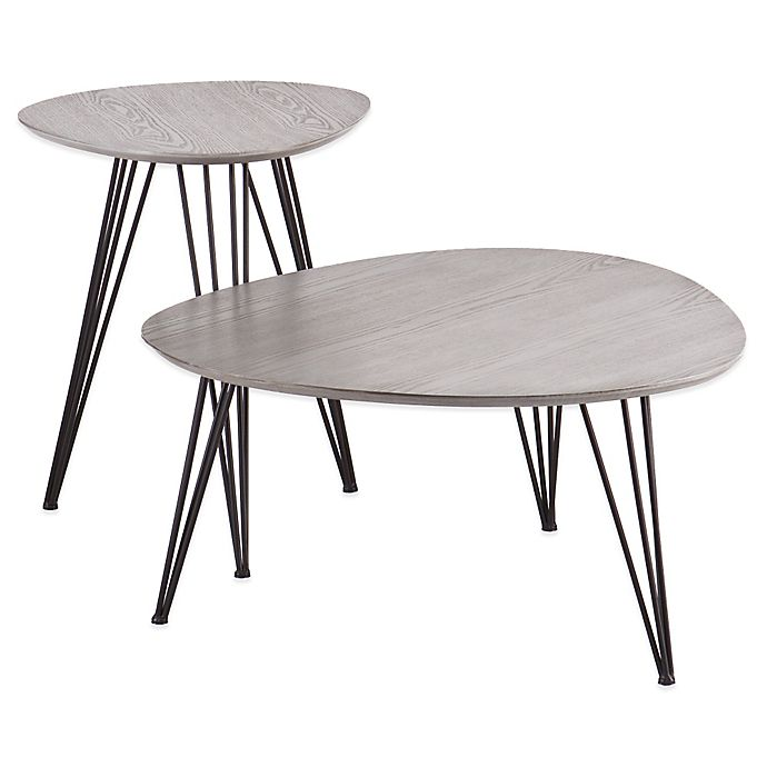 Alternate image 1 for Holly& Martin® Bannock 2-Piece Table Set in Matte Grey