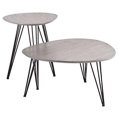 Holly& Martin® Bannock 2-Piece Table Set in Matte Grey