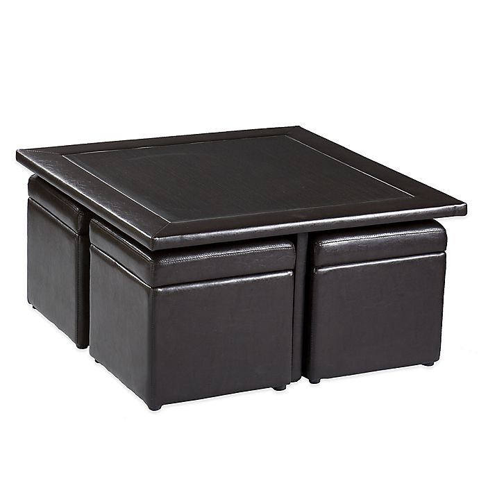 Southern Enterprises Broderick 5 Piece Storage Cube Table