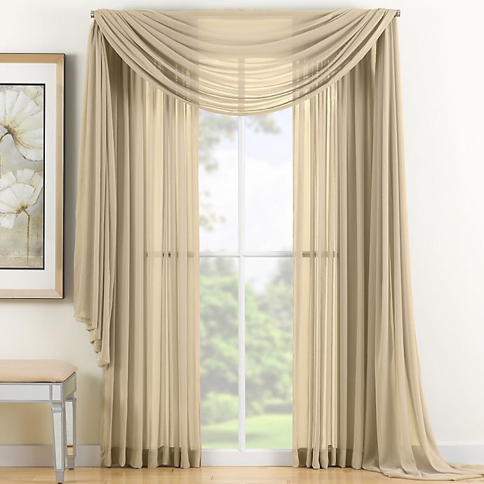 Alternate image 1 for Reverie 84-Inch Sheer Window Curtain Panel in Gold