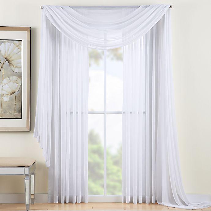 Alternate image 1 for Reverie 95-Inch Sheer Window Curtain Panel in White
