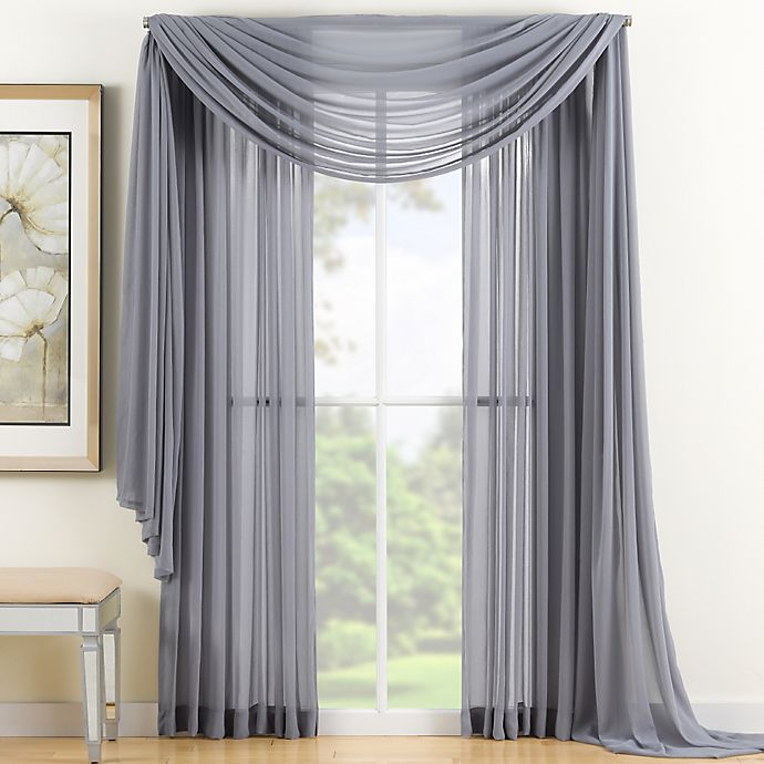 Alternate image 1 for Reverie 95-Inch Sheer Window Curtain Panel in Grey