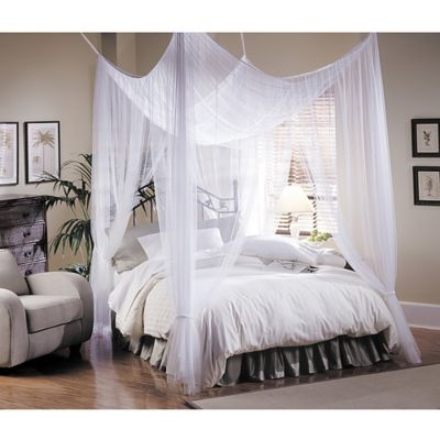 Majesty White Large Bed Canopy Bed Bath Amp Beyond
