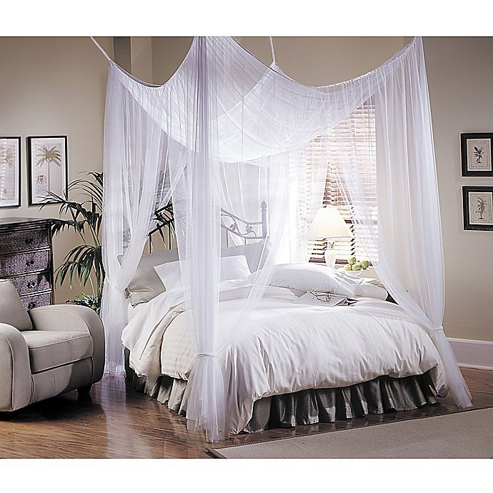 Alternate image 1 for Majesty White Large Bed Canopy
