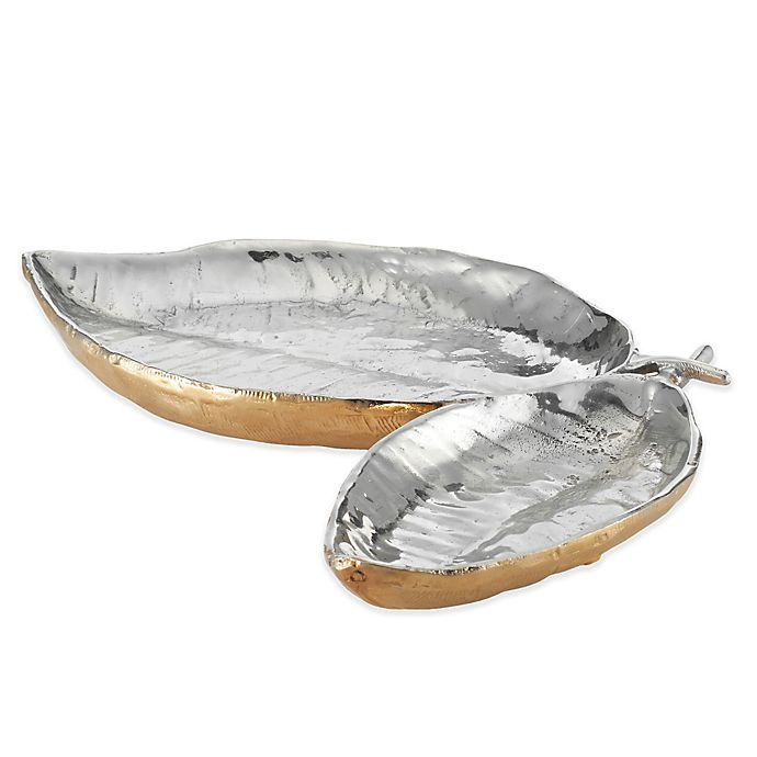 Alternate image 1 for Lunares Feather Double Dish