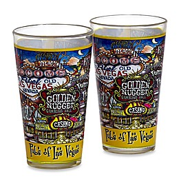 pubsOf. Las Vegas, Nevada Pint Glasses (Set of 2)