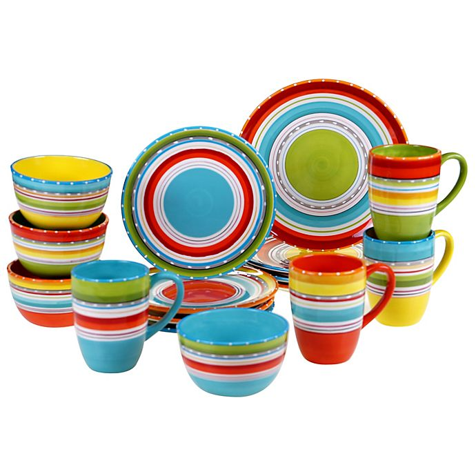 Alternate image 1 for Certified International Mariachi 16-Piece Dinnerware Set