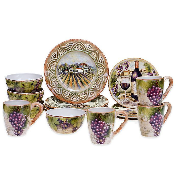 Alternate image 1 for Certified International Sanctuary Wine Dinnerware Collection