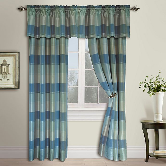 Alternate image 1 for Plaid Rod Pocket Window Curtain Panel