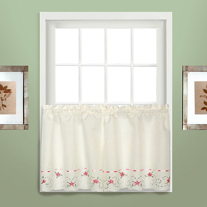 Alternate image 1 for Rachael 36-Inch Window Curtain Tier Pair in Rose