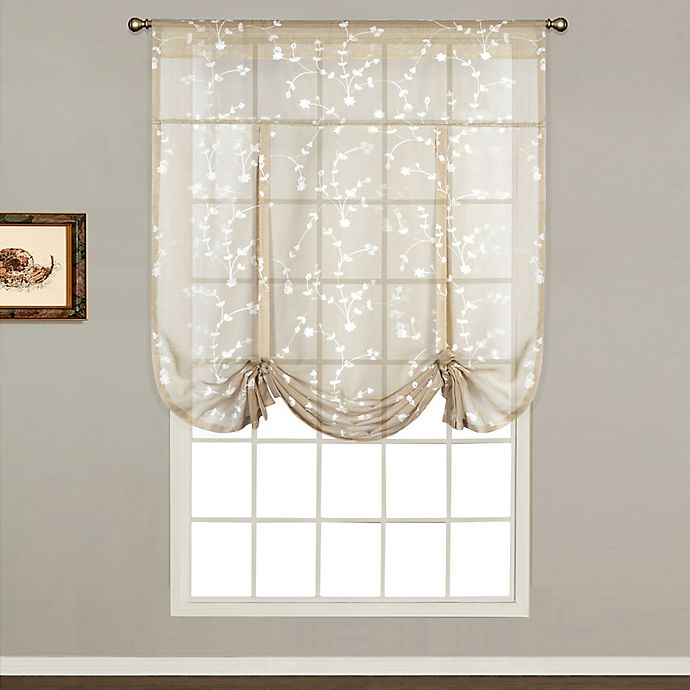 Alternate image 1 for Savannah Rod Pocket 63-Inch Tie-Up Shade in Taupe