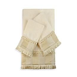 Austin Horn Classics Catherine Embellished Bath Towels in Ecru (Set of 3)